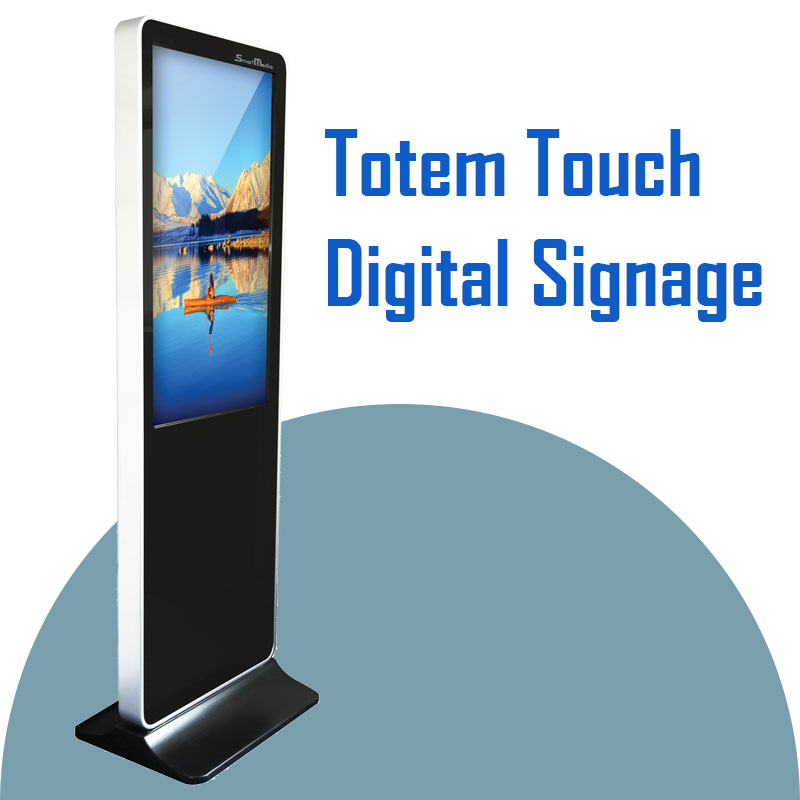 totem touch screen digital signage monitor display tavoli treviglio media