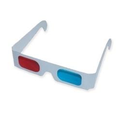 Occhiali Cartoncino 3D Anaglifi ROSSO/CIANO