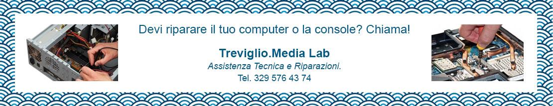 Assistenza tecnica e riparazioni computer, console, tv. Treviglio.Media Lab a Treviglio (BG).